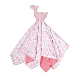 just born® Dream Ombre Llama Security Blanket in Pink