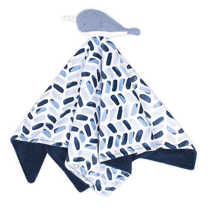 Alternate image 1 for just born® Dream Ombre Narwhal Animal Security Blanket in Blue