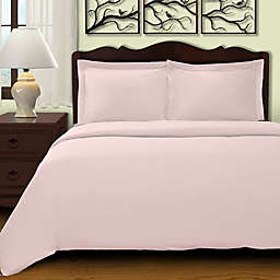Cochran Solid 3-Piece King/California King Duvet Cover Set in Lilac