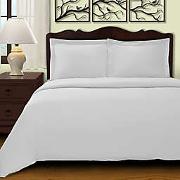 Cochran Solid 3-Piece King/California King Duvet Cover Set in White