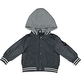 London Fog® Sweatshirt Hood Varsity Toddler Jacket in Grey