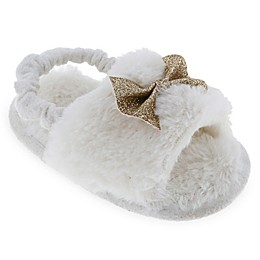 Capelli New York Bow Glitter Slippers in Ivory