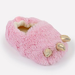 Sleepy Time Sparkly Claw Slipper in Pink
