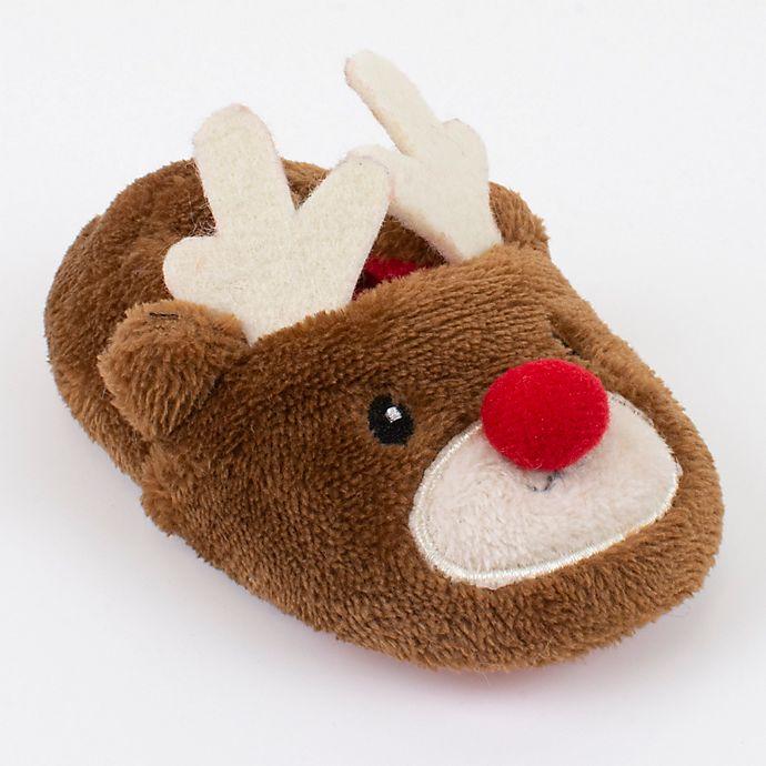Alternate image 1 for Sleepy Time Reindeer Slipper in Brown