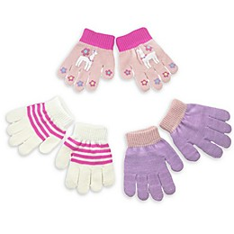 Toby Fairy 3-Pack Llama Gripper Gloves in Pink