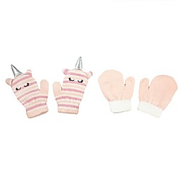 NYGB™ 2-Piece Unicorn Horn and Mitten Set in Pink
