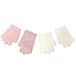 Toby Fairy 2-Pack Heart Textured Gloves in Pink