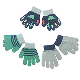 Toby Fairy 3-Pack Dinos Gripper Gloves in Navy