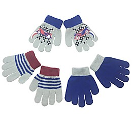 Toby Fairy 3-Pack Race Car Gripper Gloves in Cloud