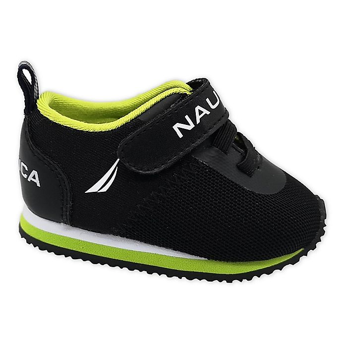 Alternate image 1 for Nautica® Athletic Shoe in Black/Lime