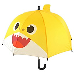 Pink Fong Baby Shark Dome Umbrella in Yellow