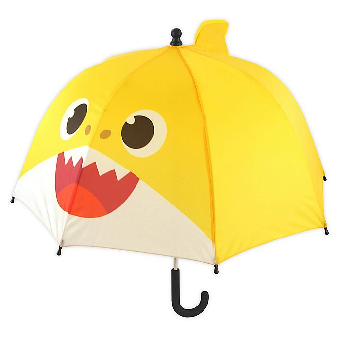 Alternate image 1 for Pink Fong Baby Shark Dome Umbrella in Yellow