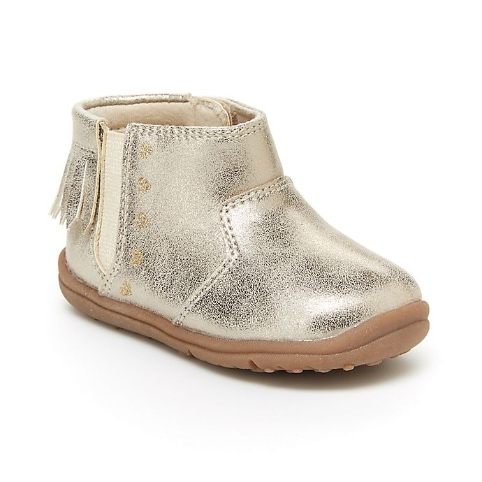 Alternate image 1 for carter's® Evvie Fringe Boot in Gold