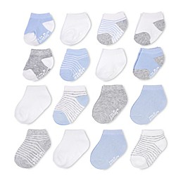 goldbug™ 16-Pack Ankle Stripe Socks in Blue