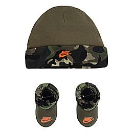 Nike® Size 0-6M 2-Piece Camo Hat and Bootie Set