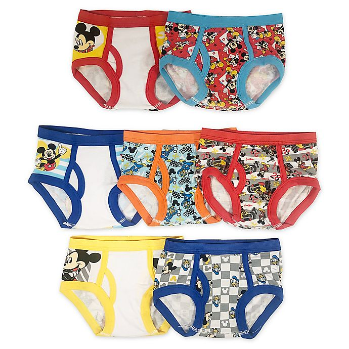 Alternate image 1 for Disney® Junior 7-Pack Mickey and the Roadster Racers Underwear Briefs