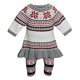 Blueberi Boulevard 2-Piece Snowflake Sweater and Legging Set