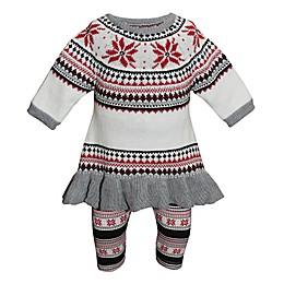 Blueberi Boulevard 2-Piece Snowflake Sweater and Legging Set