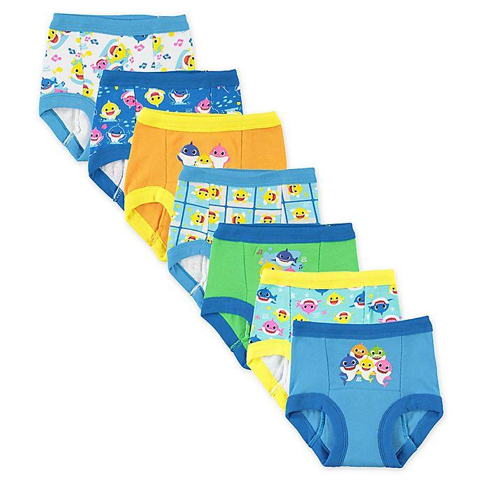 Alternate image 1 for Pink Fong 7-Pack Baby Shark Toddler Training Pants