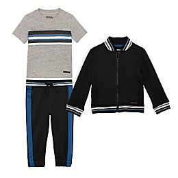 Hudson® 3-Piece Jacket, Shirt, and Pant Set in Black/Grey