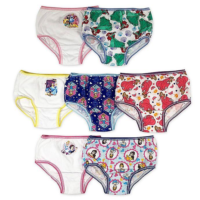 Alternate image 1 for Disney® Princess 7-Pack Underwear Briefs