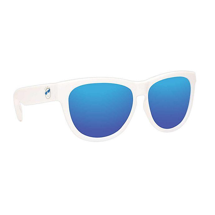 Alternate image 1 for Minishades Polarized® Baby Sunglasses in White