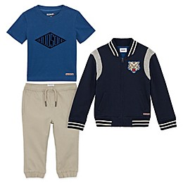 Hudson® 3-Piece Sherpa Jacket, Shirt, and Pant Set in Blue