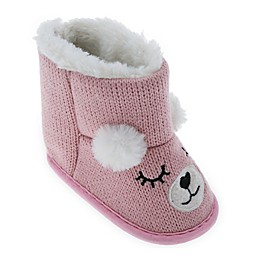 Capelli New York Sleepy Bear Slipper in Pink