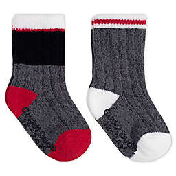 Cuddl Duds® 2-Pack Crew Socks in Black/Red