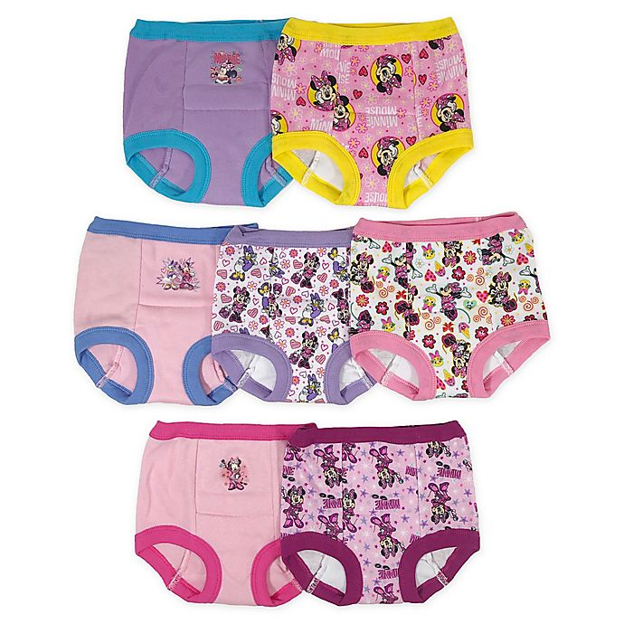 Alternate image 1 for Disney® Junior 7-Pack Minnie Training Pants with Potty Chart