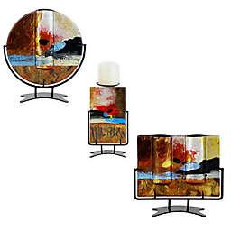 Jasmine Art Glass Sunset Decorative Accent Collection
