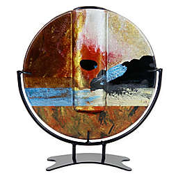 Jasmine Art Glass Sunset Round Bud Vase