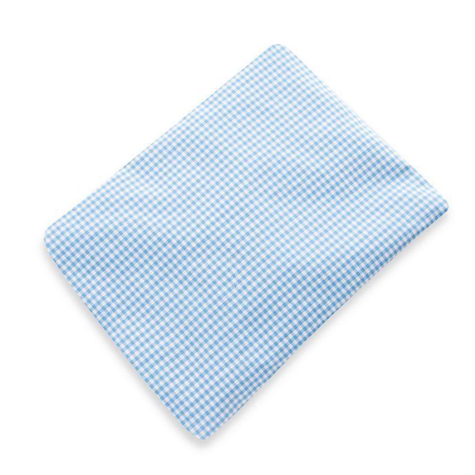 Alternate image 1 for Glenna Jean Starlight Fitted Crib Sheet in Blue Gingham