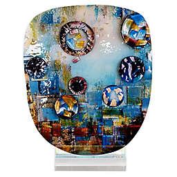 Jasmine Art Glass 14.-Inch The Pond Glass Sculpture