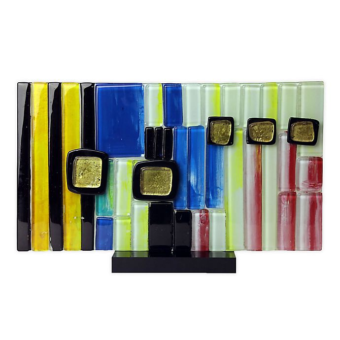 Jasmine Art Glass Linear Sculpture With Acrylic Stand Bed Bath Beyond