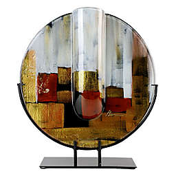 Jasmine Art Glass 18-Inch Round Bud Vase