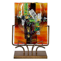 Jasmine Art Glass Lost Treasure Rectangular Vase