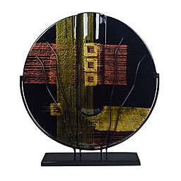 Jasmine Art Glass Golden Crossroads 21-Inch Round Bud Vase