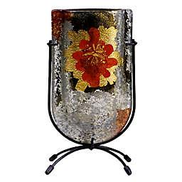 Jasmine Art Glass Metallic Flower 9-Inch Mini U-Shaped Vase