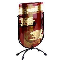 Jasmine Art Glass Golden Horizon 9-Inch Mini U-Shaped Vase