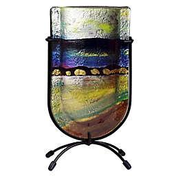 Jasmine Art Glass Riverbed 9-Inch Mini U-Shaped Vase