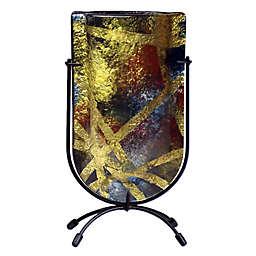 Jasmine Art Glass Golden Light 9-Inch Mini U-Shaped Vase
