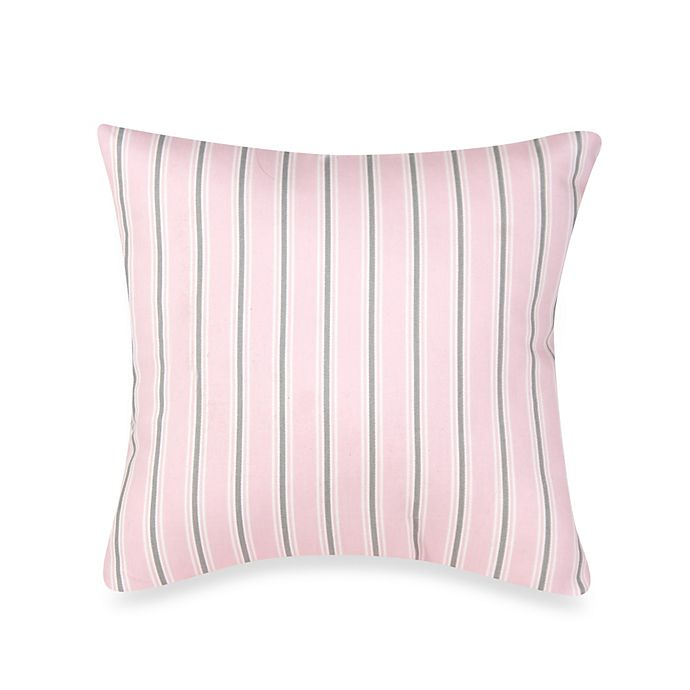 Alternate image 1 for Glenna Jean Bella & Friends Striped Throw Pillow in Pink