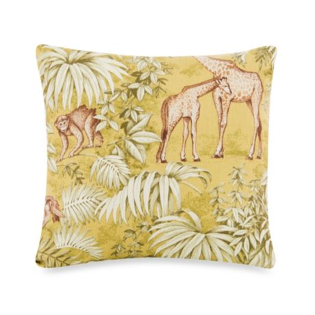Glenna Jean Cape Town Animal Print Square Throw Pillow In