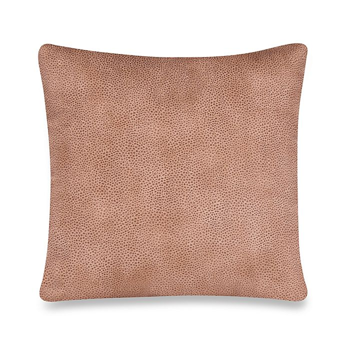 Alternate image 1 for Glenna Jean Cape Town Faux Leather Square Throw Pillow in Tan