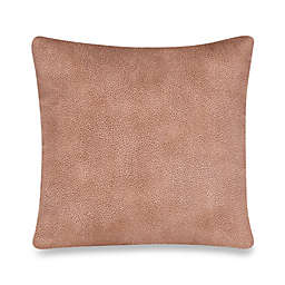 Glenna Jean Cape Town Faux Leather Square Throw Pillow in Tan