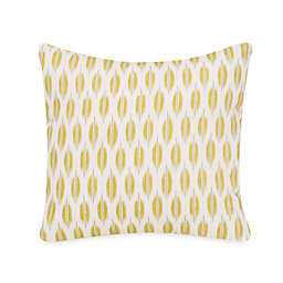 Glenna Jean Cape Town Leaf Print Square Throw Pillow in Green/Grey