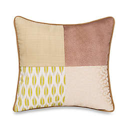 Glenna Jean Cape Town Patch Square Throw Pillow in Green/Grey
