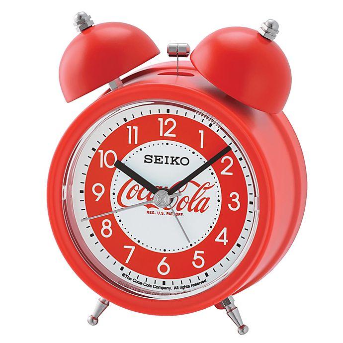 Alternate image 1 for Seiko Coca-Cola® Alarm Clock in White/Red