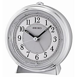 Seiko Quiet Sweep Alarm Clock in Silver